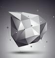 digital 3d abstraction lattice geometric polygonal vector image vector image