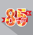 Discount 85 Percent Off vector image