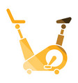 exercise bicycle icon vector image vector image