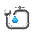 faucet and plumbing wrench vector image vector image