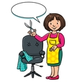 Funny hairdresser or barber Profession ABC series vector image vector image