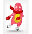 Funny Monster Skater vector image vector image