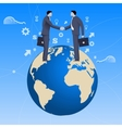 Global deal business concept vector image vector image
