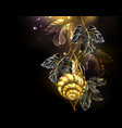 gold snail vector image