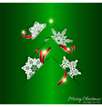 Green Christmas Tree Background vector image vector image