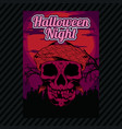 halloween party invitation flyer editable vector image