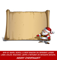 Happy Santa Scroll Inviting with Open Hands vector image vector image