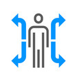 human resource management line icon career vector image vector image