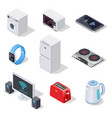 internet things isometric icons household vector image vector image