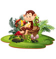 isolated monkey in nature vector image
