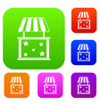 kiosk set collection vector image vector image