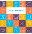 Line Art Modern Online Shopping Icons Set vector image vector image