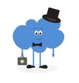 Lively cloud with a suitcase vector image