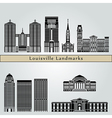 Louisville landmarks and monuments vector image vector image
