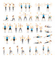 man and woman workout fitness aerobic and vector image vector image