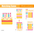 matching game educational children activity with vector image vector image