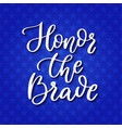 memorial day hand lettering american vector image vector image