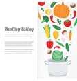 organic food vegetable food icons healthy eating vector image vector image