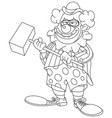 outlined evil scary clown vector image vector image