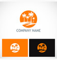 palm tree tropic logo vector image
