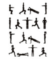 people stretching body vector image vector image