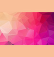pink yellow polygonal mosaic background geometric vector image