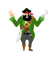 pirate surrenders filibuster apologize buccaneer vector image vector image
