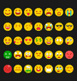 pixel emoticon set vector image vector image