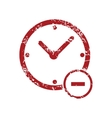 Reduce time red grunge icon vector image vector image