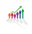 Rising Figure Graph vector image