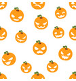 seamless halloween party pumpkin decoration scary vector image