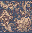 seamless pattern indian floral backdrop vector image vector image