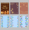 set of christmas greeting cards vector image vector image