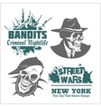 Set of gangser and bandits emblems labels badges vector image vector image