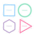 set of geometric line frames in different colors vector image vector image
