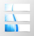 Set of header banner dynamic wavy design vector image vector image