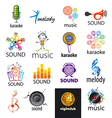 Set of logos music and sounds