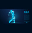 silhouette a golf player golfer from particles vector image vector image