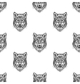 Sketch Wolf seamless pattern Hand drawn vector image vector image