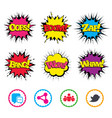 social media icons chat speech bubble and bird vector image vector image