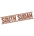 South Sudan brown square stamp vector image vector image