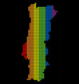 spectrum dotted lgbt portugal map vector image