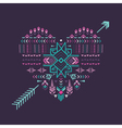 Tribal Heart - Vintage Aztec Background vector image vector image