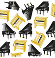 two pianoes pattern vector image