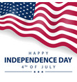 usa flag for happy independence day united vector image