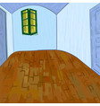van goghs bedroom without furniture and things vector image vector image