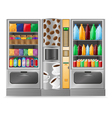 vending coffee snack and water is a machine vector image vector image