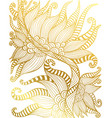 vintage ornamental elegant pattern outline golden vector image