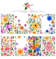 Watercolor floral background for designing purpose vector image vector image