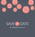 Wedding invitation balloons paper lamps vector | Price: 1 Credit (USD $1)